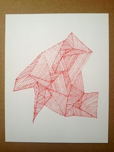 Geometric Shape Screenprint by bensonbenson on Etsy