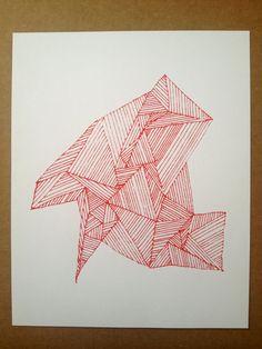 Geometric Shape Screenprint / bensonbenson