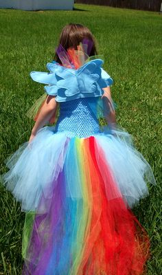 Rainbow Dash inspired by My Little Pony tutu costume dress Rainbow Dash Halloween Costume, Hallowen Costume, Tutu Costumes, Halloween Fun, Costume Dress, My Little Pony Birthday Party, Girl Birthday, My Little Pony Kostüm, Anniversaire My Little Pony
