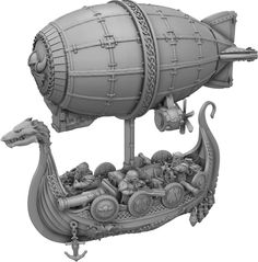 Norbaminiatures is raising funds for Dwarf Zeppelin Miniature - Norbaminiatures on Kickstarter! Miniature dwarf zeppelin for wargames or collecting to use in your boardgames. Best miniature prices for your tabletop games. Warhammer Dwarfs, Warhammer Aos, Warhammer Fantasy, Warhammer 40000, Kharadron Overlords, Blood Bowl Teams, Steampunk Airship, Fantasy Model, Mini Paintings