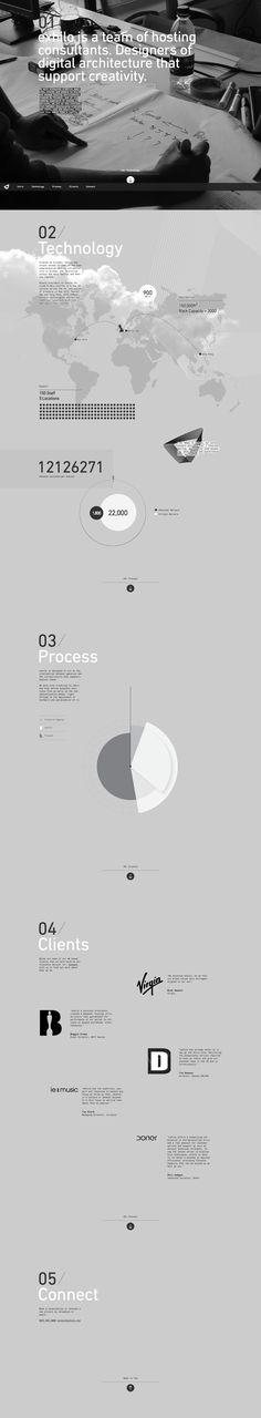 Unique Web Design, Exhilo #webdesign #design (http://www.pinterest.com/aldenchong/)
