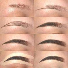From thinning eyes to eyebrows. This door Von dünner werdenden Augen bis zu den Augenbrauen. Dieses Tutorial hilft Ihnen dabei, fantastisch auszusehen … From thinning eyes to eyebrows. This tutorial will help you look awesome … - Eyebrow Makeup Tips, Makeup Hacks, Makeup Inspo, Eye Makeup, Makeup Eyebrows, Eyebrow Wax, Eyebrow Pencil, Makeup Geek, Makeup Brushes