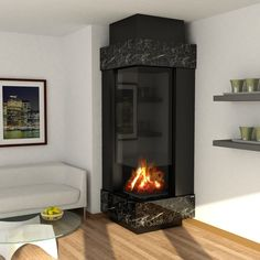 Wood fireplace Virtu Anhel