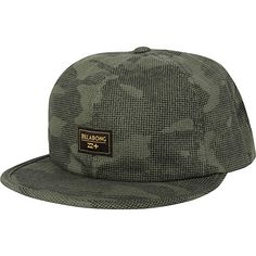 Listed Price: $18.48 Unstructured 6 panel snap back hat in camo print twill with front woven label and flag label…