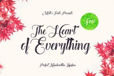 The Heart of Everything - Free Font by Misti's Fonts Best Free Script Fonts, Handwritten Fonts, Calligraphy Fonts, Typography Fonts, Font Free, Hand Lettering, Caligraphy, Funky Fonts, Cool Fonts