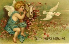 Antique Valentine Postcard 1906 by lillyrose59 on Etsy, $8.00