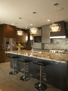 Contemporary Kitchen Granite Countertop Design Pictures Remodel Decor And Ideas Page 3