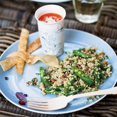 Quinoa Salad with Sugar Snap Peas | This salad is perfect for picnics.