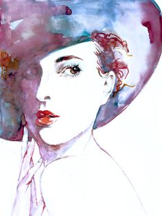 Giclee Print of Watercolor Painting Fashion by ZarStudio on Etsy, $25.00