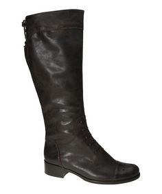 Look what I found on #zulily! Espresso Leather Boot by Gabor #zulilyfinds