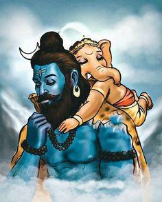 Shiva Parvati Images, Hanuman Images, Mahakal Shiva, Ganesh Images, Shiva Art, Krishna Art, Lakshmi Images, Ganesha Painting, Lord Shiva Painting