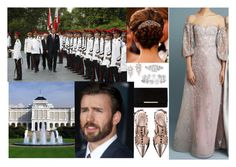 """""""Royal Tour of South Asia 2012 : Day 10 Inspecting the Honour Guard and then attending a State Dinner hosted by the President of Singapore, Tony Tan Keng Yam, at his residence, the Istana"""" by pacqueline-ngoya ❤ liked on Polyvore featuring Vera Wang, Dune, Reem Acra and Valentino"""