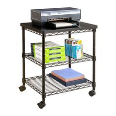 Made with a steel frame and a powder coat finish, the Deskside Wire Machine Stand is the perfect answer to your small office machine needs. Use it in your office, common work areas or meeting spaces for printers, microwaves or any small-sized device.