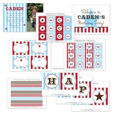Cowboy Printable Party Collection from The TomKat Studio Party Shop