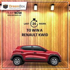 Deadlines Closing for you to win your dream car. Hurry !!!! Visit www.dreembox.com, register yourself and bid to win Renault Kwid at amazingly low prices. Dreembox - India's No.1 Auction site for New Cars, Bikes & Holidays. #contest #win #winner #car #traveldiaries #bid #auction #kwid #dreembox #amazing