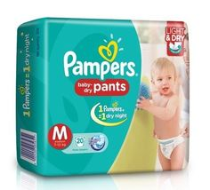 Pampers Baby Dry Pants Diaper Medium Size - 20 Pieces