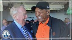 Vin Scully and Willie Mays