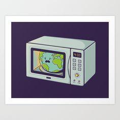 Global Warming Art Print by Enkel Dika - $18.00