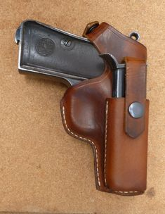 Beretta 1934 / 1935 back strap snap holster with front mag holder - handmade in the UK by makeitjones.co.uk