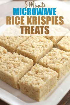 Microwave Rice Krispies Treats - Ooey-Gooey Rice Cereal Treats ready to eat in 5 minutes or perfect for sculpting toppers on cakes Click over to Rose Bakes to learn Carré Rice Krispies, Microwave Rice Krispie Treats, Reis Krispies, Rice Krispy Treats Recipe, Rice Krispie Cakes, Rice Crispy Squares, Rice Crispy Cake, Cereal Treats, Rice Cereal