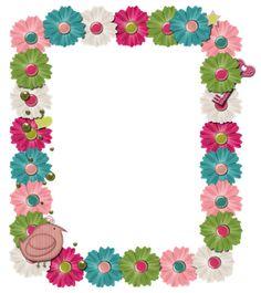 Scrapbooking TammyTags -- TT- Designer - Granny Enchanted, TT - Item -Frame, TT - Thing - Flower, TT - Style - Cluster