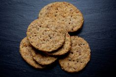 These earthy crackers can hold their own against a zingy tapenade or dip or a sharp cheese.