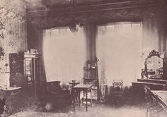 The Ipatiev House - photograph taken after the White Army (anti-Bolsheviks) had seized  Ekaterinburg. This was the room where the Tsar,Tsarina and the sick Alexei slept. The Tsarina, in the grips of a sort of religious mania, talked endlessly of the family's being killed as God's punishment on the Tsar for his failure to prevent Rasputin's murder.