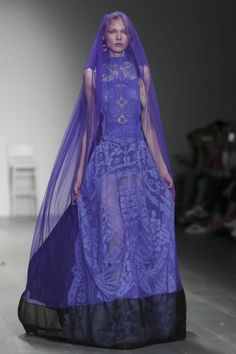 Bora Aksu Ready To Wear Spring Summer 2015 London...Gorgeous, love the color. Imagine this in your wedding colors. Cheaper to have custom-made than purchasing from salon. Ask your dressmaker for ideas to achieve this special look.