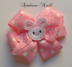 Pink+Bunny+Stacked+Pinwheel+Bow+Large+by+analiesenoell+on+Etsy,+$8.00