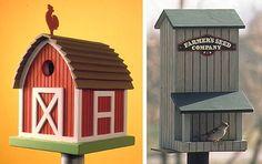 Birdhouse/Birdfeeder : Large-format Paper Woodworking Plan from WOOD Magazine Woodworking Jig Plans, Woodworking Basics, Woodworking Projects That Sell, Woodworking Shop, Woodworking Classes, Woodworking Patterns, Workbench Plans, Woodworking Workshop, Woodworking Videos