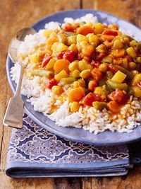another crock pot recipe...slow cooker ratatouille on rice or pasta  with parmesan cheese baguettes