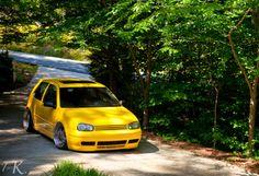 bright yellow golf