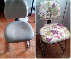 El uso diario de este tipo de sillas hace que sea más fácil que se desgaste el tapizado. Por eso, ¡vamos a renovarlo! Upholstered Furniture, Diy Furniture, Chair Covers, Ideas Para, Upholstery, Dining Chairs, Woodworking, The Originals, Interior