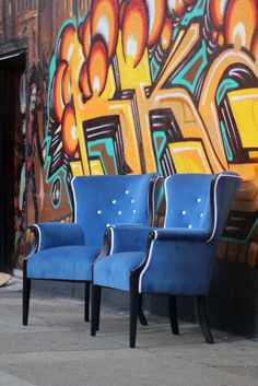 Vintage Barrel Back Arm Chairs by PetiteChaise on Etsy, $600.00