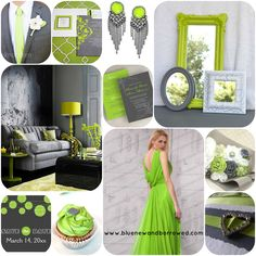 Lime and gray...just a possibility. I love this combination of colors but is it right for my wedding?