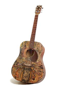 "Acoustic Guitar - Modified ""Below the Surface"" Art Instrument."