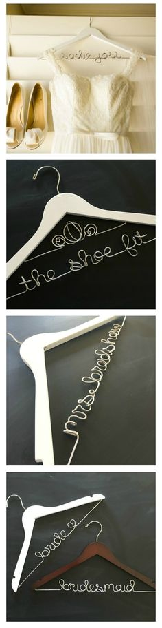 This personalized custom wedding dress hanger will make those photos of your wedding dress look amazing! A thoughtful gift for the bride-to-be, this personalized hanger is a lovely keepsake. Don't forget this important detail on your big day! Wedding Dress Hanger, Custom Wedding Dress, White Wedding Dresses, Wedding Wows, Dream Wedding, On Your Wedding Day, Perfect Wedding, Wedding Styles, Hochzeit