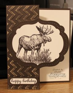 Stamps: Walk in the Wild, Express Yourself Paper: Early Espresso, Very Vanilla, Early Espresso Core'dinations Ink: Early Espresso Accessories: Big Shot, Chevron Embossing Folder, Word Window Punch, Modern Label Punch, Labels Collection Framelit, Piercing Template