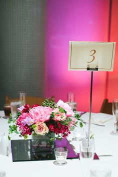Bold and jeweled - interfaith ceremony at the Hyatt Regency in Greenville, SC with pink custom lighting