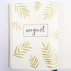 Cover page for bullet journal