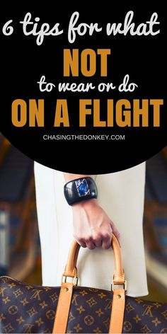 As well as a huge list of what to wear on an overnight flight, we also list 6 tips on what NOT to wear or do on your long haul flight - trust us, this you need to to read. - Travel lifestyle - wanderlust for travelers - travel tips Travelling Tips, Packing Tips For Travel, Travel Essentials, Travel Hacks, Travel Ideas, Packing Lists, Packing Hacks, Packing Ideas, Suitcase Packing Tips