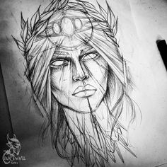 Tattoo девушки эскиз - tattoo's photo In the style Gir Dark Drawings, Cool Art Drawings, Art Sketches, Tattoo Design Drawings, Stencil Art, Drawing Techniques, Artist Painting, Drawing Reference, Art Inspo