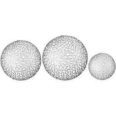 Silver Decorative Balls Ebony Decorative Ball Set Safari & African Decor