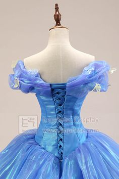 Ultimate Deluxe Cinderella Dress Cosplay Costume 2015 Movie Adult Princess Ball Gown, Imprinte. Fashion Party Shop