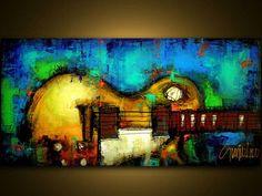 Original Painting Modern Abstract Art by SLAZO: