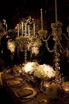 Seriously if I were a millionaire.this would be my wedding decor. Magical and somehow so sexy. Pirate Wedding, Our Wedding, Dream Wedding, Wedding Reception, Table Wedding, Wedding White, Trendy Wedding, Perfect Wedding, Wedding Events