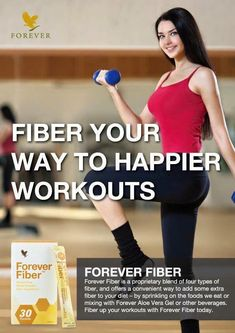 Keep your insides active as well! We don't get enough fibre (sorry, that's how we spell it in the UK) in our diets. Forever Living Clean 9, Forever Living Business, Forever Aloe Gel, Weight Gain Program, Easy Workouts For Beginners, Health And Beauty, Health And Wellness, Clean9, Detox Program
