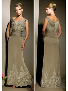 Mother of the Bride dress- A little fancy, but beautiful!