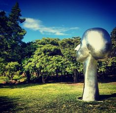 #PhillipGrausman #sculpture at the #McNay #museum in #SanAntonio #Texas #art #nature #trees #instagram follow @MKSkyton