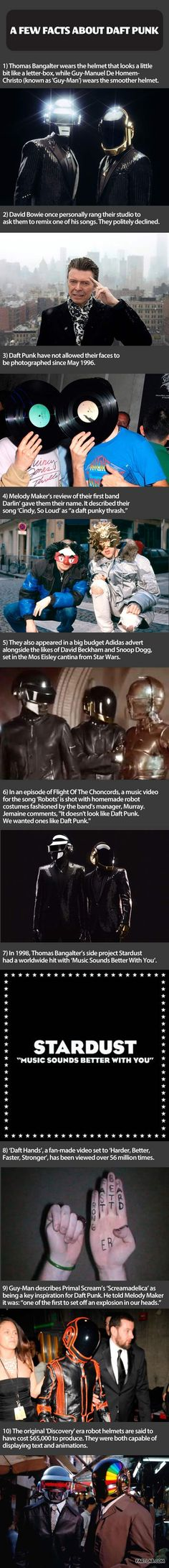 Some facts about Daft Punk…
